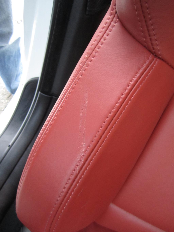 scuff repair on fox red novillo leather. Black Bedroom Furniture Sets. Home Design Ideas