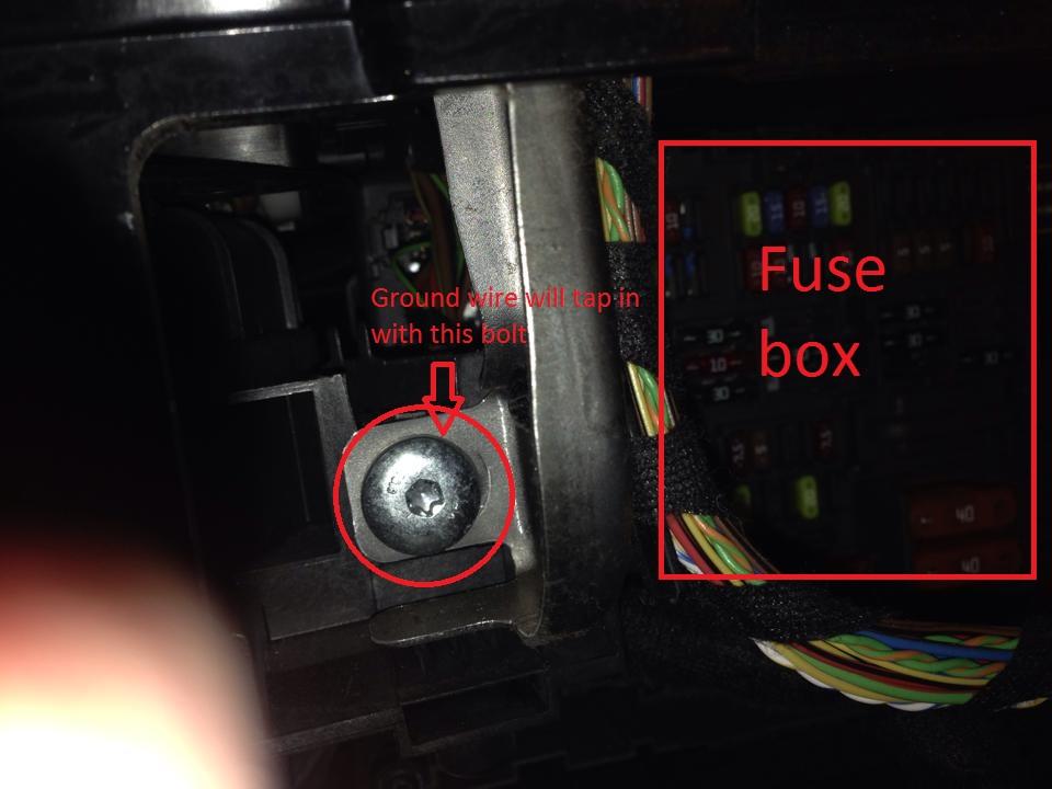 diy hardwire escort 9500xi to e9x fuse box   same as my