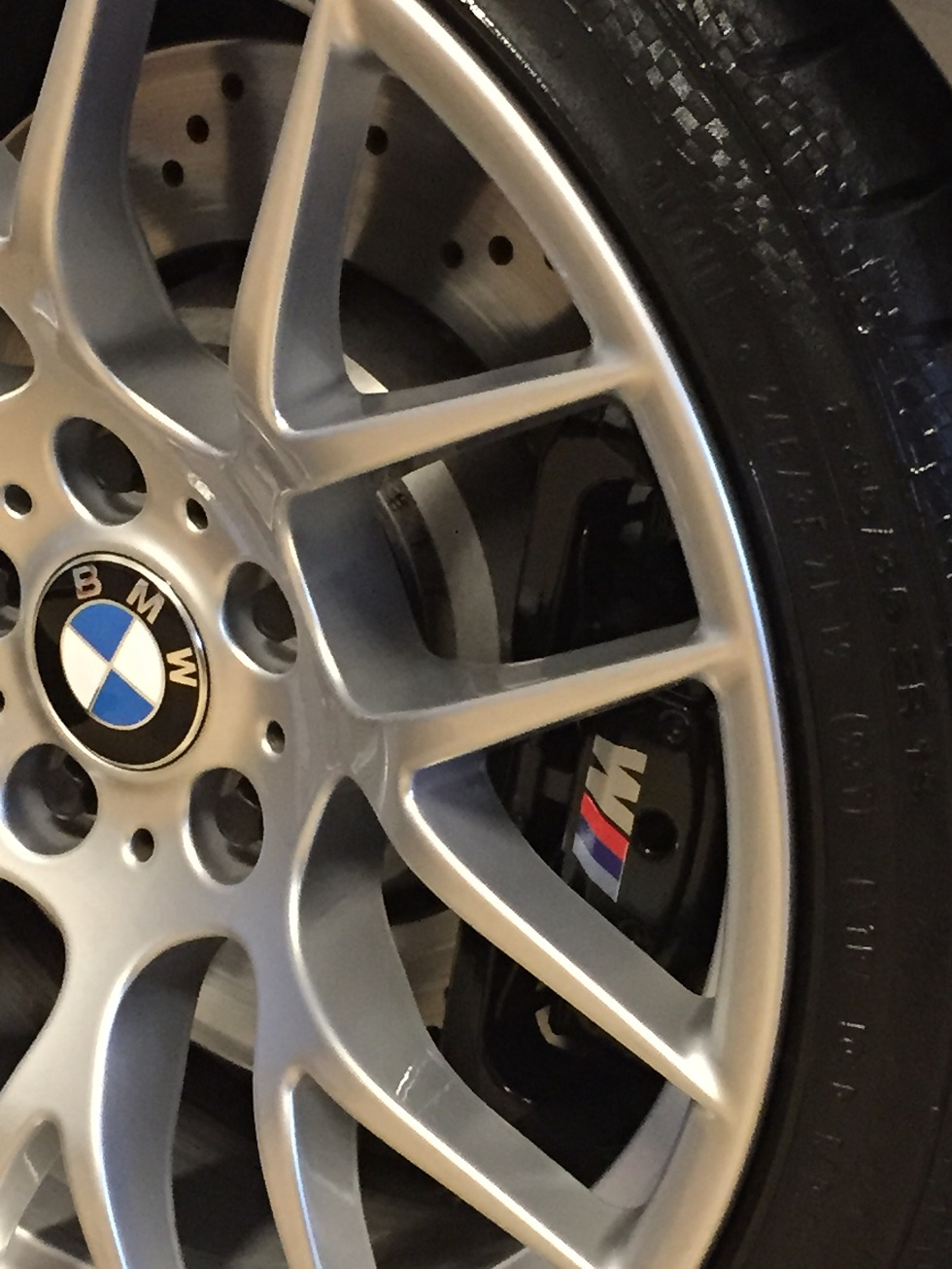 M Decals On Oem Brake Calipers Easy Diy - Bmw brake caliper decals