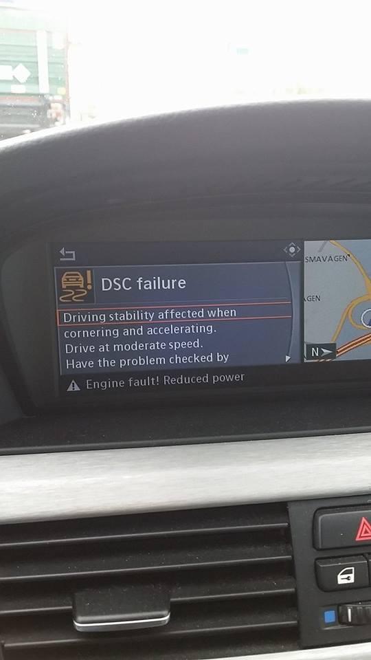 Engine malfunction! Flat tyre malfunction DSC malfunction