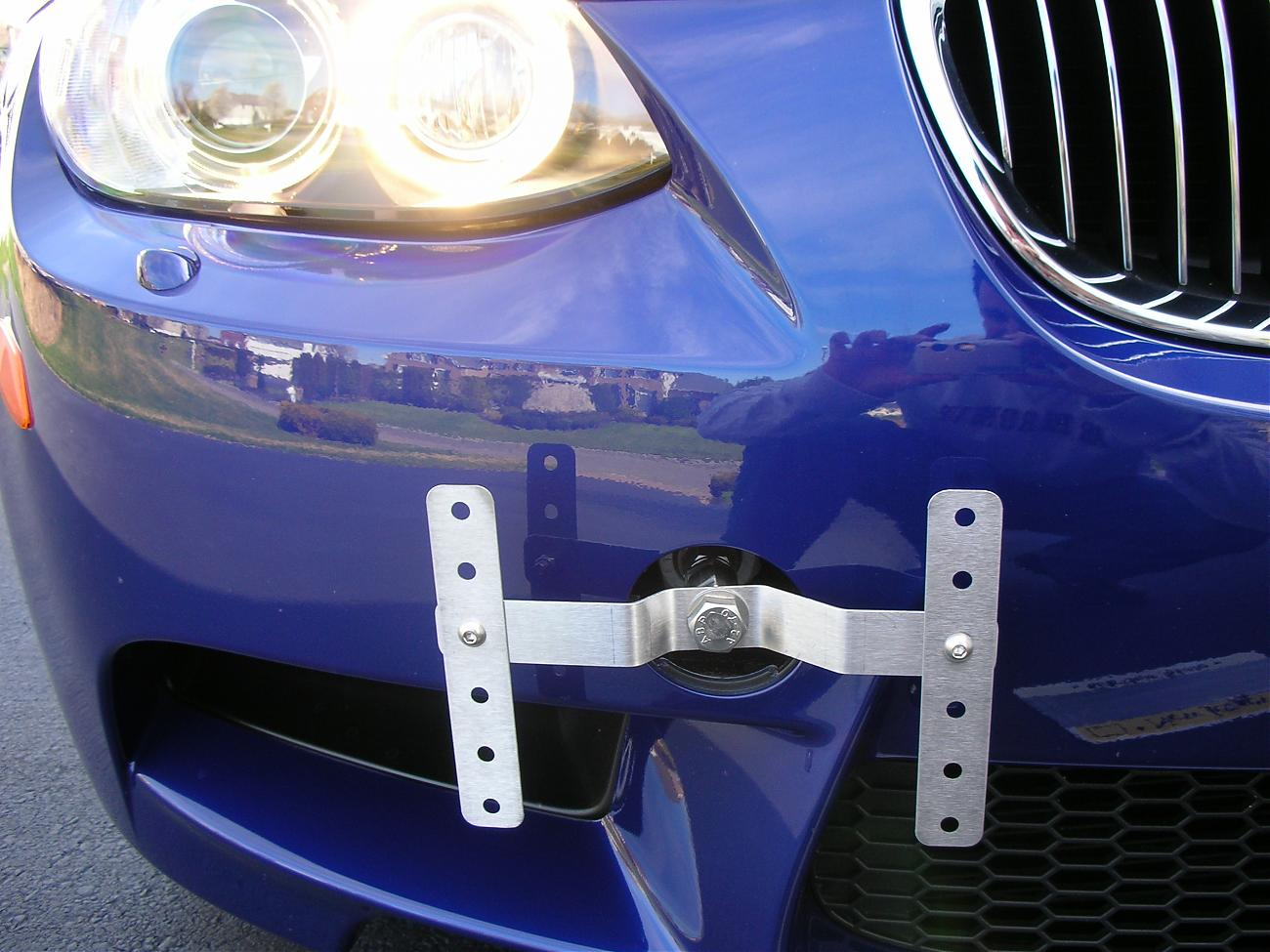 Alternative to mounting front license plate