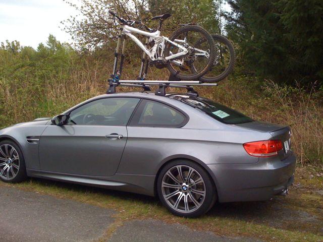 Space Grey Racks - Bmw 335i bike rack