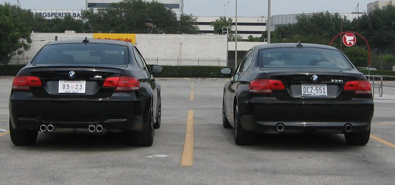 Bmw 328i M3 >> M3 vs. 328i and 335i side by side photo comparo