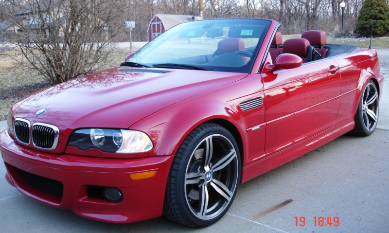 2005 M3 Convertible Imola Red With Imola Red Leather Sweeet