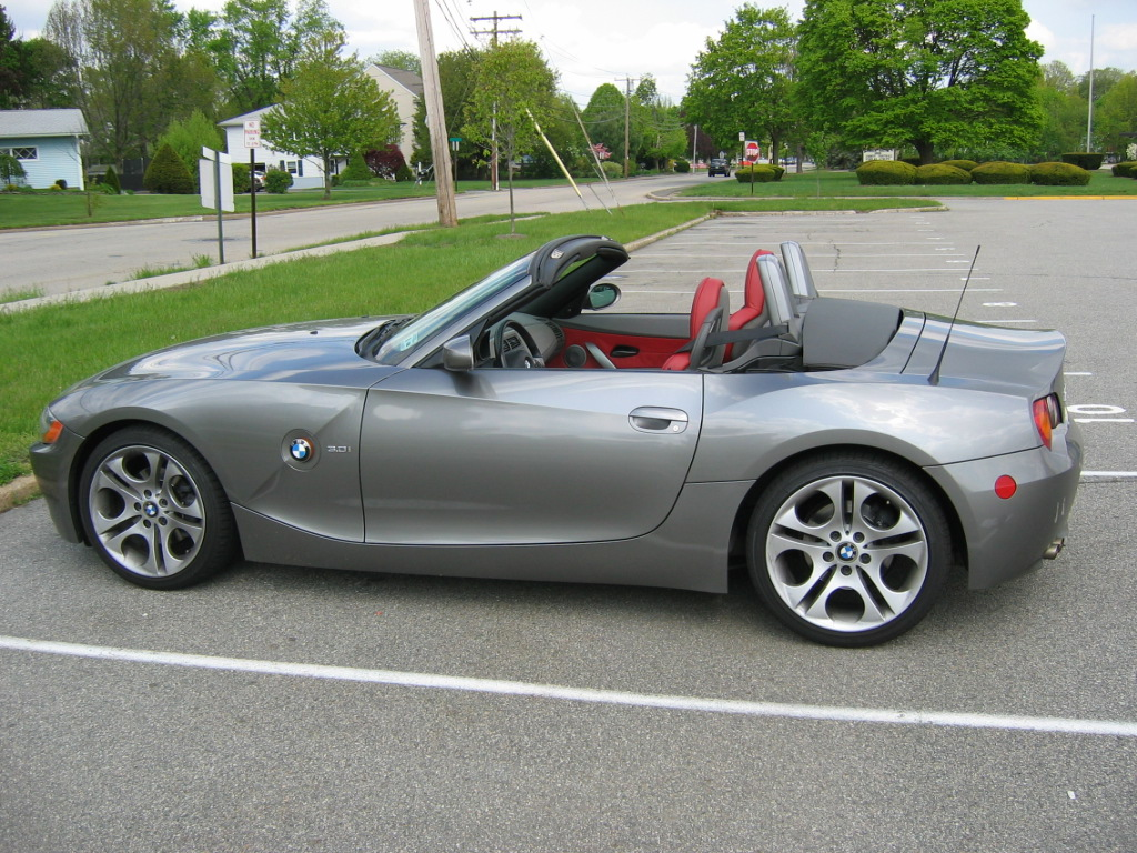 Fs 2004 Z4 3 0i Roadster Cpo Sterling Grey Dream Red 6 Speed M Sport Seats