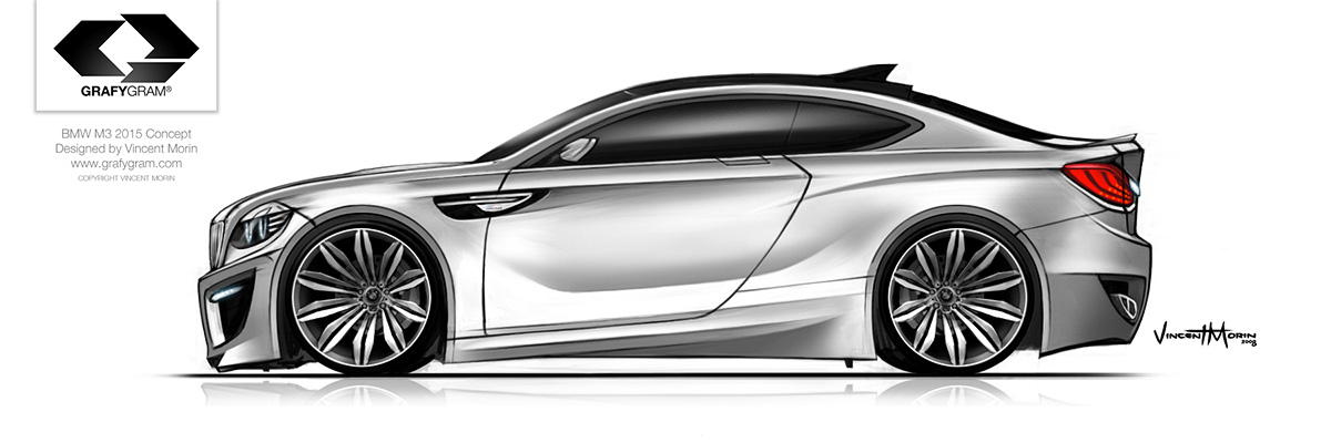 2015 Bmw M3 Just Sharing A Sketch Updated With Rear View