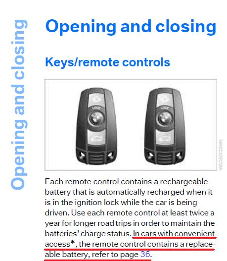 Bmwfort Access Key Replacement: Key Fob Battery