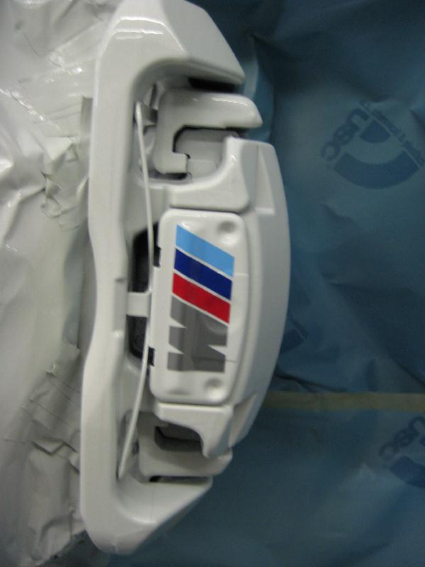 White Calipers With M Decals PICS - Bmw brake caliper decals