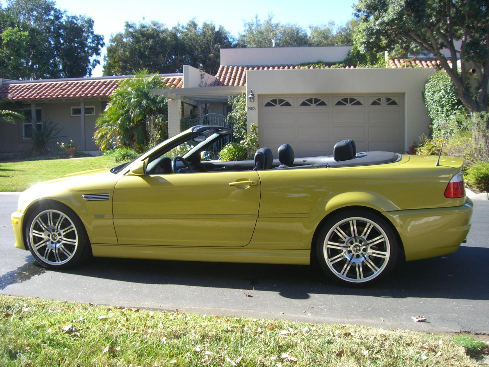 For Sale 2003 M3 Convertible 6 Spd Phoenix Yellow With Nav