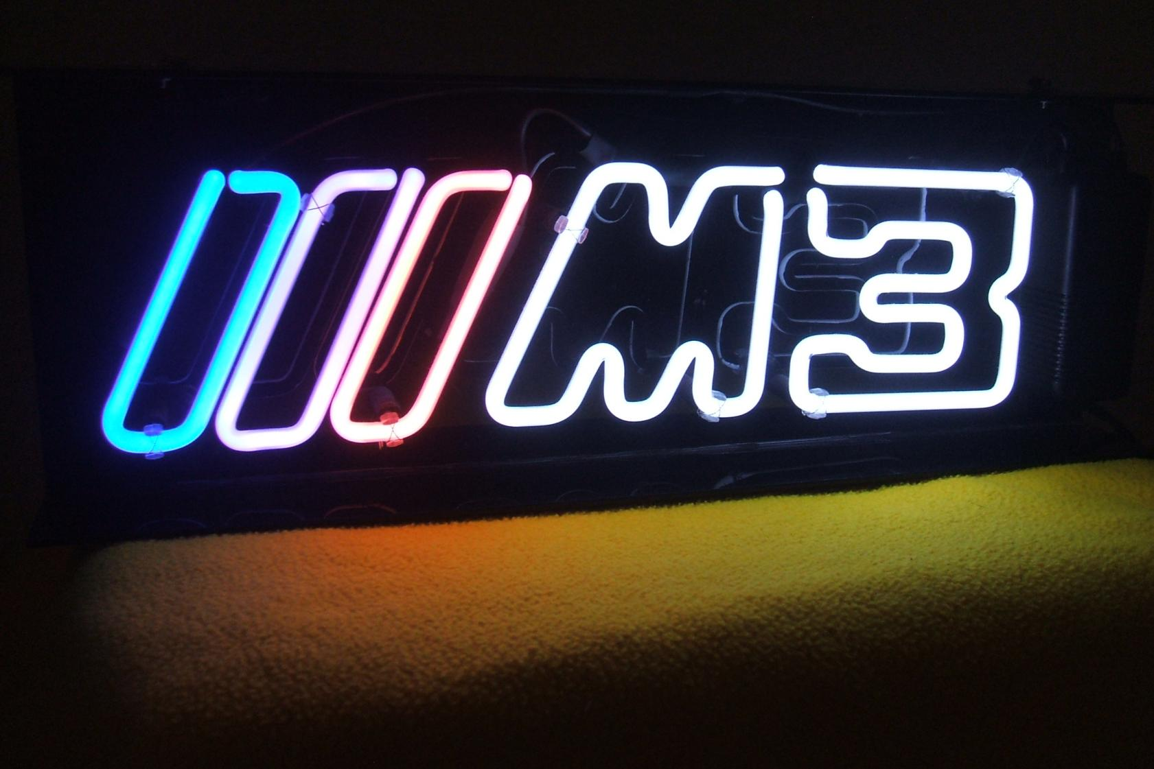 BMW M Logo Neon Sign - Bmw signs for sale