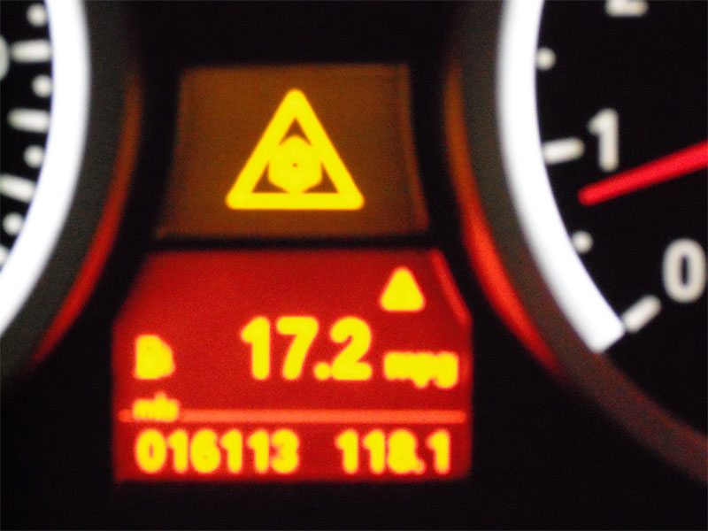 Can Someone Let Me If This Triangle Warning Light Comes On When You