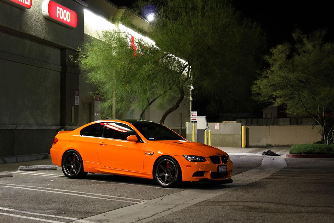 M3 Gts Style Orange E92 With Volks Te37 Super Laps