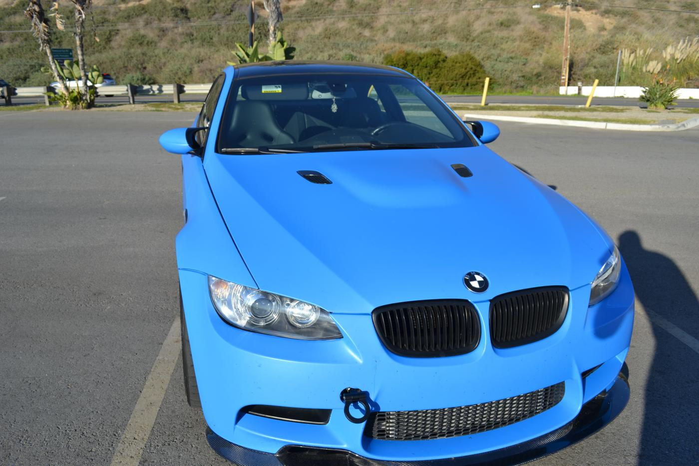 90210 Wrap Custom Matte Blue Vinyl Wrap Before And After