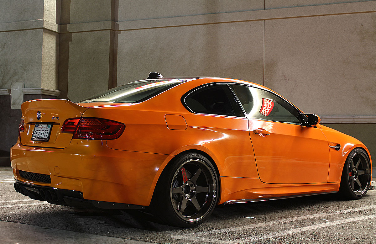 Fire Orange M3 With 19 Quot Volks Te37 Super Laps