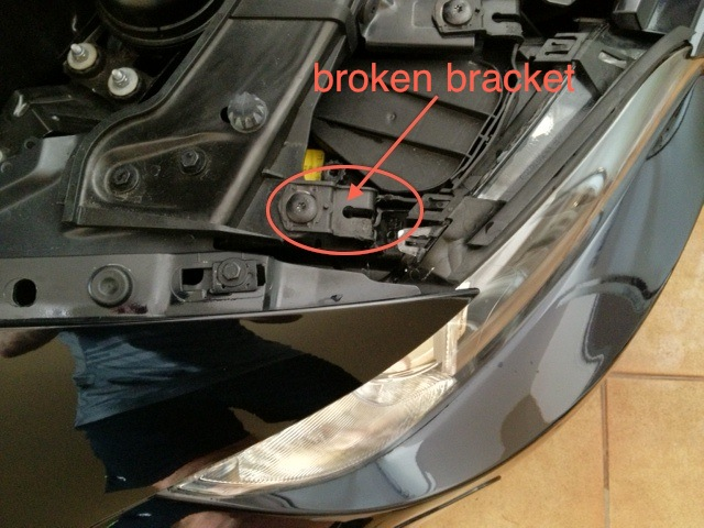 how to open a e46 hood with a broken cable