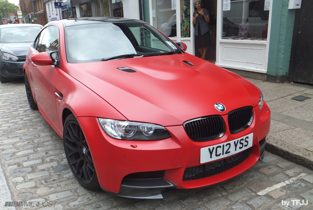 Frozen Red Vinyl Wrap The M3cutters Uk Bmw M3 Group Forum