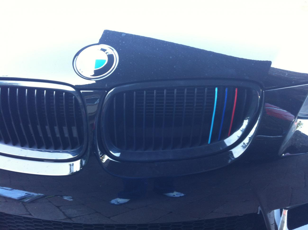 How Would I Go About Doing This To My Black Grills - Bmw grille stripe decals