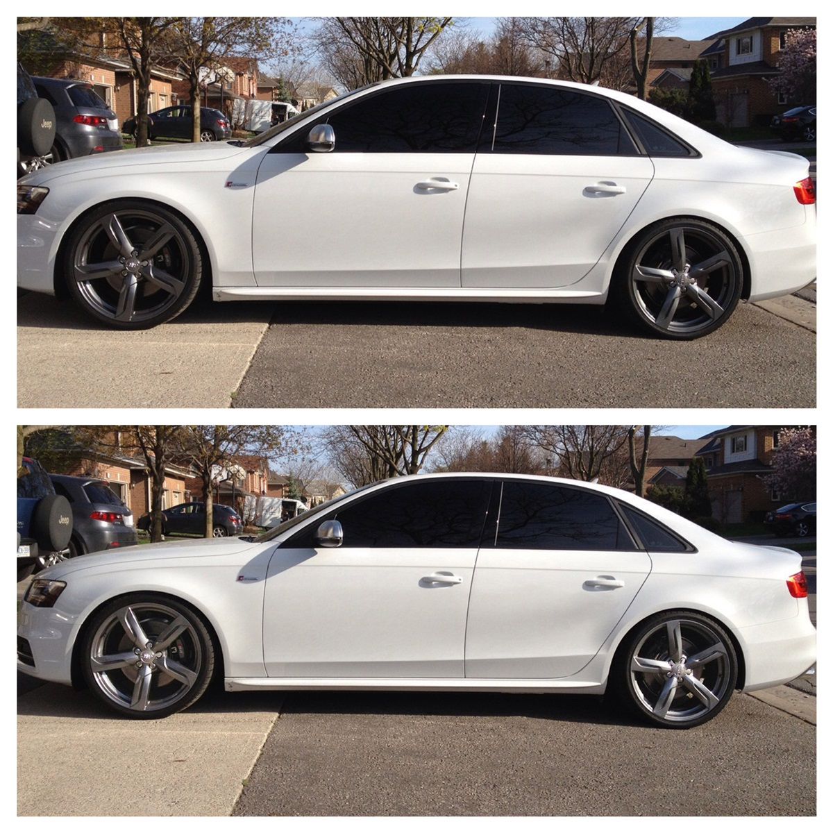 just picked up my 2013 glacier white s4 20 wheels h r springs and more page 2. Black Bedroom Furniture Sets. Home Design Ideas