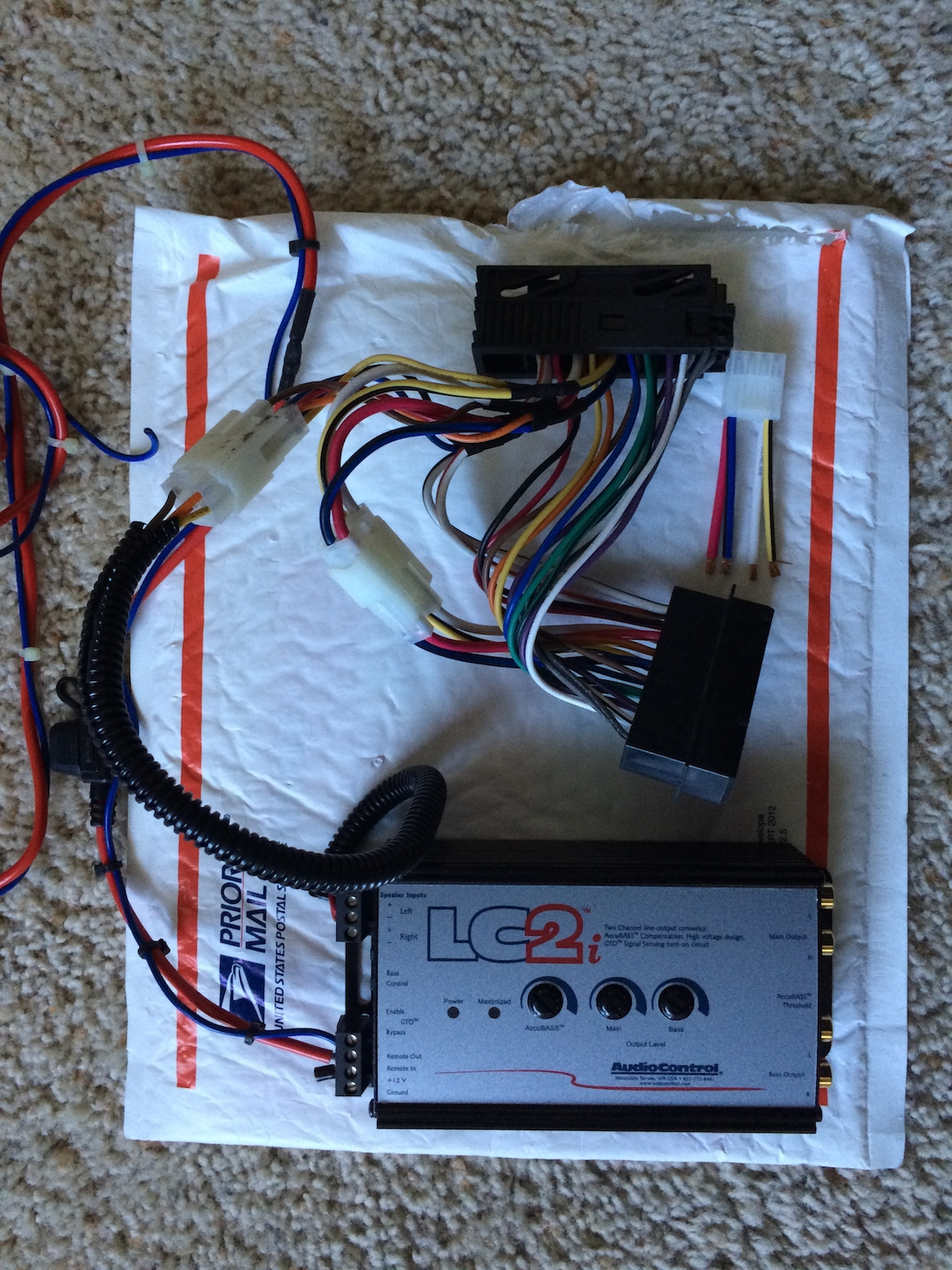 technic s pnp harness with audiocontrol lc2i
