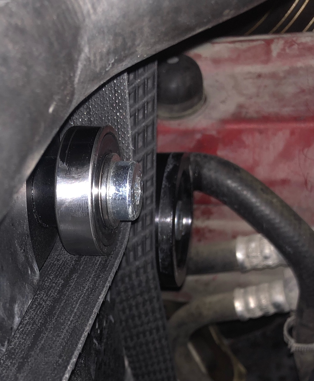 Name:  bearing after pulley flew in engine bay.JPG Views: 1090 Size:  334.9 KB